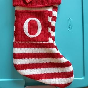 """""""O"""" Knitted Holiday Stocking"""